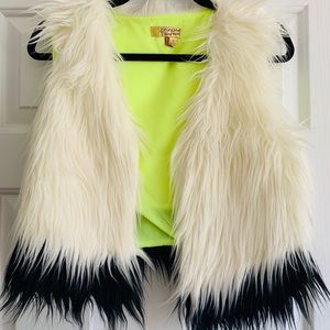 Princess Vera Wang Faux Fur Vest.